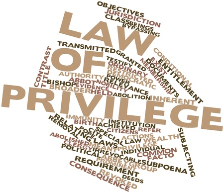 facto: Abstract word cloud for Law of Privilege with related tags and terms