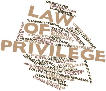 inmunidad: Nube palabra abstracta por la Ley de privilegios con las etiquetas y términos relacionados