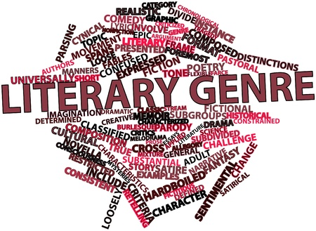 essays: Abstract word cloud for Literary genre with related tags and terms