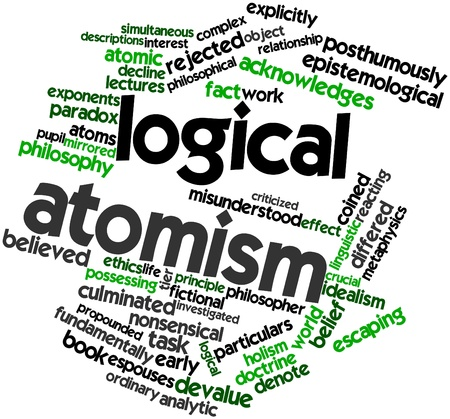 Abstract word cloud for Logical atomism with related tags and terms Stock Photo - 17142066