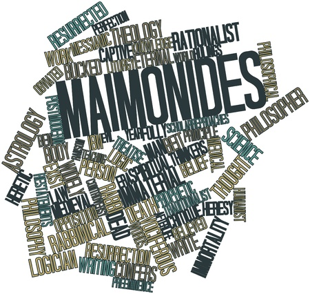 Abstract word cloud for Maimonides with related tags and terms