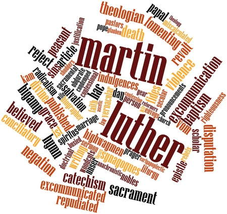 Abstract word cloud for Martin Luther with related tags and terms photo