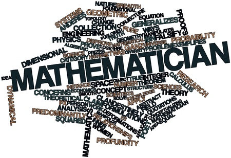 Abstract word cloud for Mathematician with related tags and terms Stock Photo