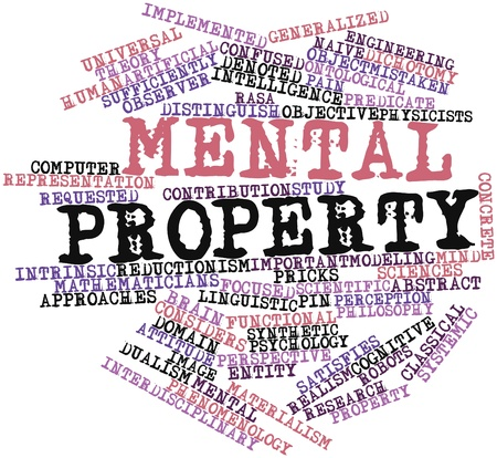 denoted: Abstract word cloud for Mental property with related tags and terms