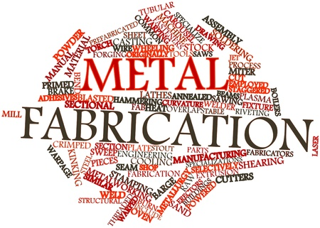 Abstract word cloud for Metal fabrication with related tags and terms
