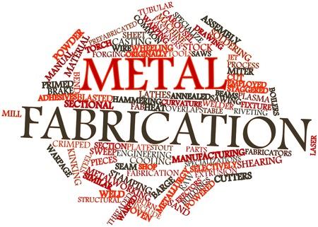 Abstraktes Wort-Wolke für Metallverarbeitung mit verwandten Tags und Begriffe