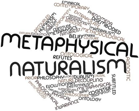 humanisme: Nuage de mot abstrait pour le naturalisme m�taphysique avec des �tiquettes et des termes connexes