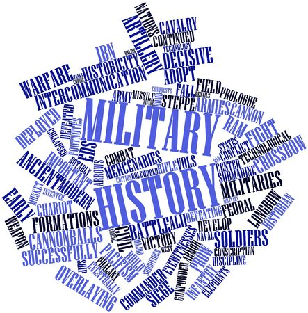 deployed: Abstract word cloud for Military history with related tags and terms Stock Photo