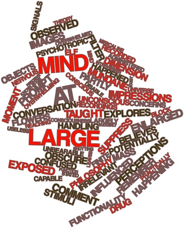 final thoughts: Abstract word cloud for Mind at Large with related tags and terms