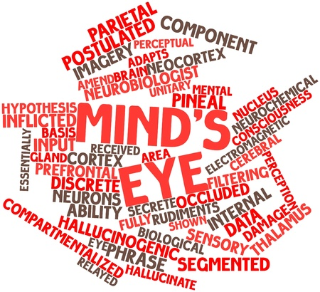 Abstract word cloud for Mind's eye with related tags and terms Stock Photo - 17148828