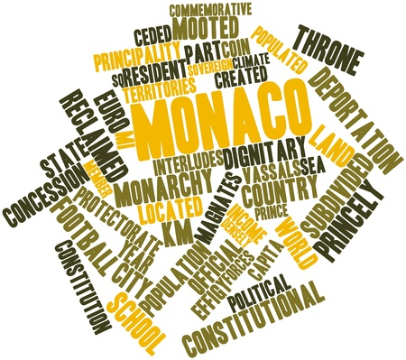 Abstract word cloud for Monaco with related tags and terms