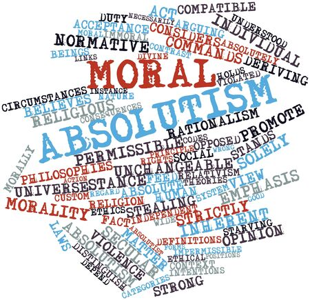 Abstract word cloud for Moral absolutism with related tags and terms