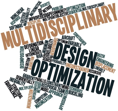multidisciplinary: Abstract word cloud for Multidisciplinary design optimization with related tags and terms