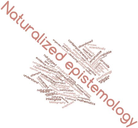 epistemology: Abstract word cloud for Naturalized epistemology with related tags and terms
