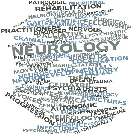 additional training: Abstract word cloud for Neurology with related tags and terms