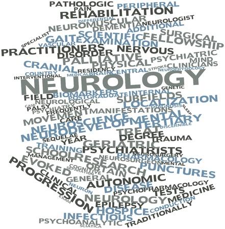 autonomic: Word cloud astratto per Neurologia con tag correlati e termini