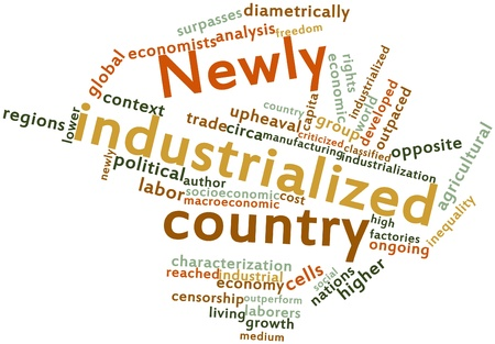 industrialized country: Abstract word cloud for Newly industrialized country with related tags and terms