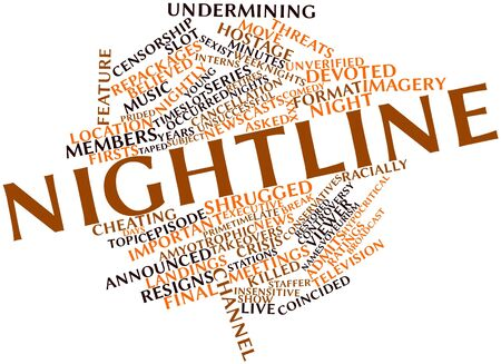 hypocritical: Abstract word cloud for Nightline with related tags and terms Stock Photo