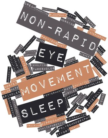 sequences: Abstract word cloud for Non-rapid eye movement sleep with related tags and terms