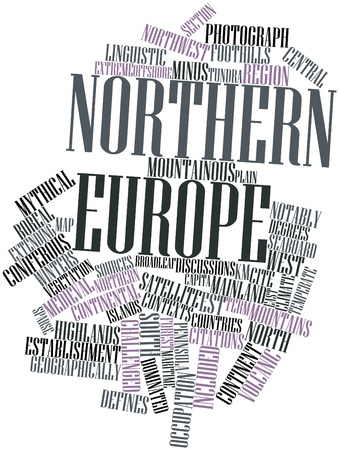 contexts: Abstract word cloud for Northern Europe with related tags and terms