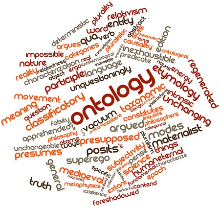 Abstract word cloud for Ontology with related tags and terms Stock Photo - 17148982