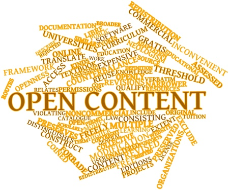 Abstract word cloud for Open content with related tags and terms photo