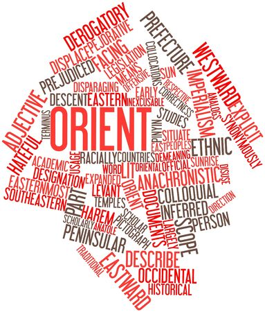 legitimacy: Abstract word cloud for Orient with related tags and terms