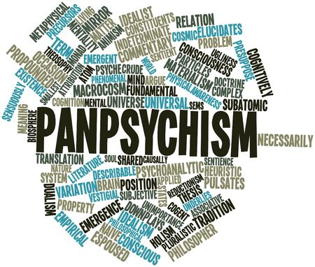 associative: Abstract word cloud for Panpsychism with related tags and terms