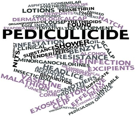 Abstract word cloud for Pediculicide with related tags and terms