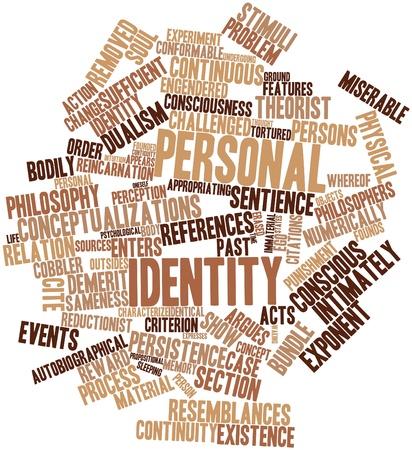 criterio: Nube di parola astratta di identit� personale con tag e termini correlati
