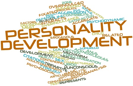 personality development: Abstract word cloud for Personality development with related tags and terms