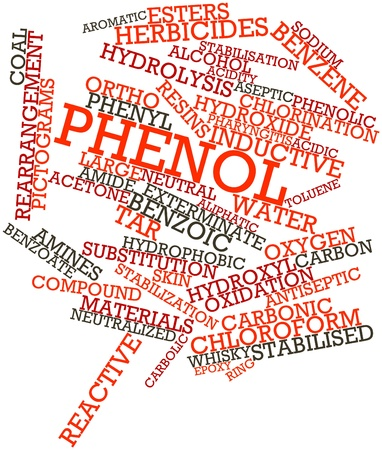 aqueous: Abstract word cloud for Phenol with related tags and terms