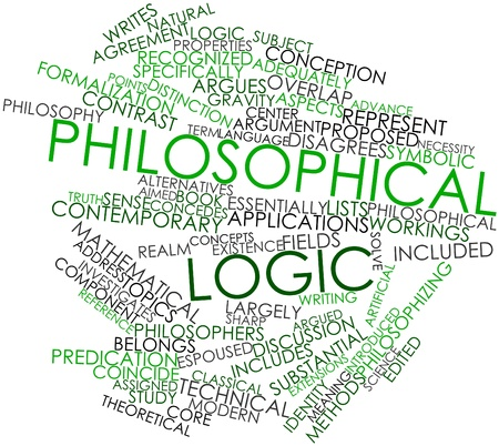 Abstract word cloud for Philosophical logic with related tags and terms Stock Photo - 17148954