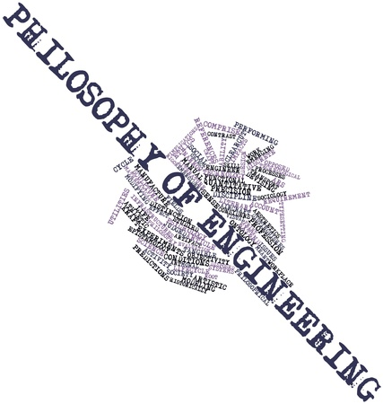 epistemology: Abstract word cloud for Philosophy of engineering with related tags and terms