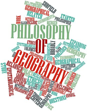 coined: Abstract word cloud for Philosophy of geography with related tags and terms