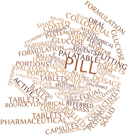 formulation: Abstract word cloud for Pill with related tags and terms