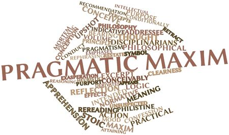 attaining: Abstract word cloud for Pragmatic maxim with related tags and terms