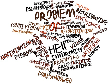 implicit: Abstract word cloud for Problem of Hell with related tags and terms