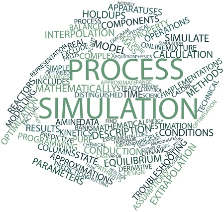simulation: Abstract word cloud for Process simulation with related tags and terms