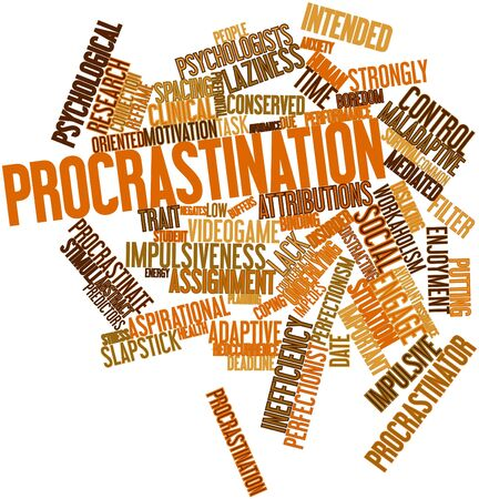 disapproval: Abstract word cloud for Procrastination with related tags and terms