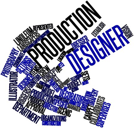 coined: Abstract word cloud for Production designer with related tags and terms