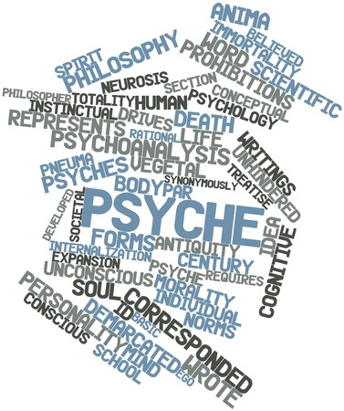 totality: Abstract word cloud for Psyche with related tags and terms