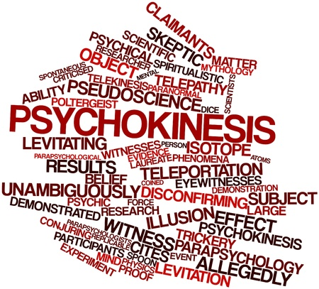 psychical: Abstract word cloud for Psychokinesis with related tags and terms