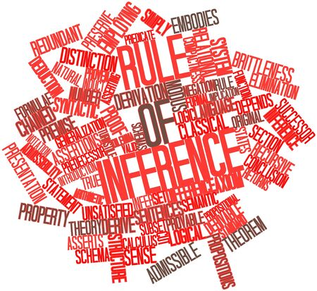 Abstract word cloud for Rule of inference with related tags and terms Stock Photo - 17149675