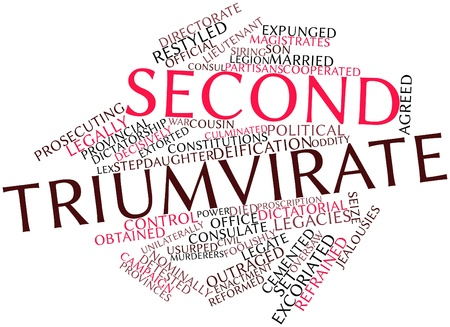 restyled: Abstract word cloud for Second Triumvirate with related tags and terms