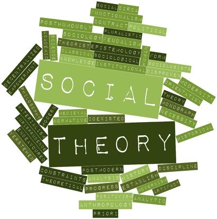priori: Word cloud astratto per la teoria sociale con tag correlati e termini