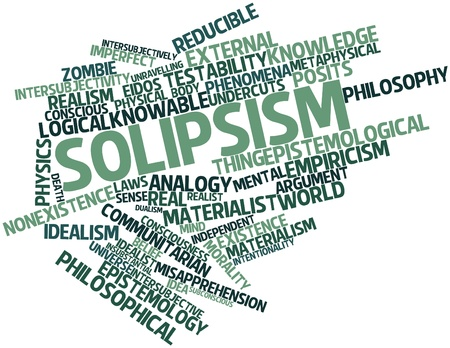 epistemology: Abstract word cloud for Solipsism with related tags and terms