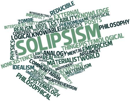 dualism: Nube palabra abstracta para solipsismo con etiquetas y t�rminos relacionados