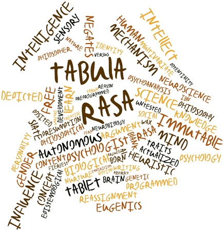 Abstract word cloud for Tabula rasa with related tags and terms Stock Photo - 17148841
