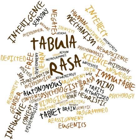 potentiality: Nube palabra abstracta para Tabula rasa con las etiquetas y t�rminos relacionados Foto de archivo